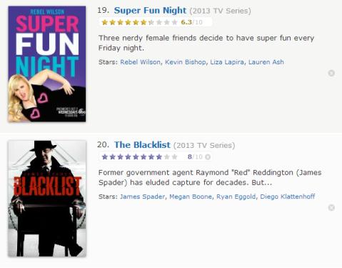 TV Watchlist 10 - IMDB