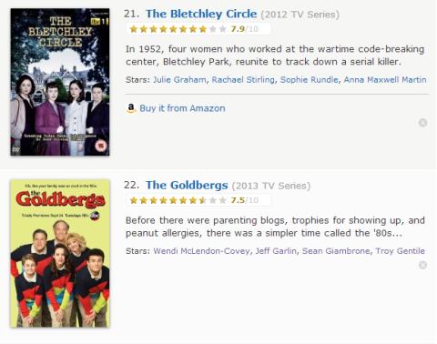 TV Watchlist 11 - IMDB