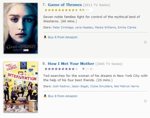 TV Watchlist 4 - IMDB
